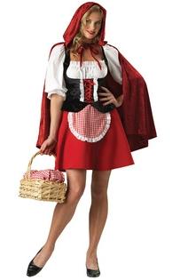 Halloween Costume Red Riding Hood Adult Peasant Dress