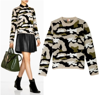 MSGM Camouflage Jumper