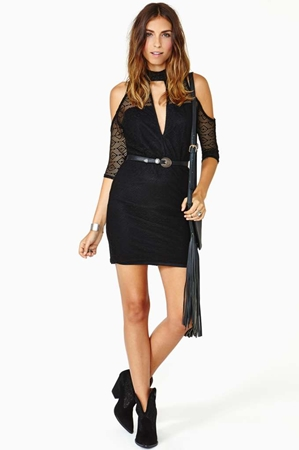 Nasty Gal Faithfull Crochet Dress