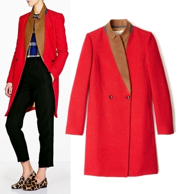 O2nd Oliver Patched Collar Slim Fit Coat