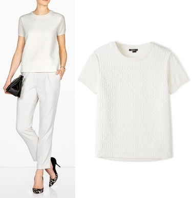 Raoul Cashmere Embossed Printed Top