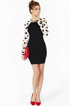 Soft Dip Little Black Dress