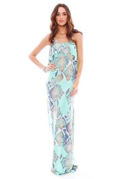 Tart Collections Genie Maxi Dress in Snake Print