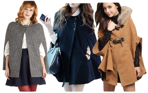 statement cape coats for women