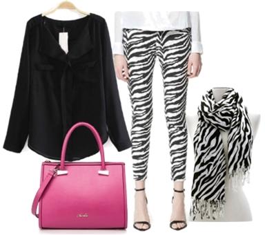 zebra scarf with zebra jeans
