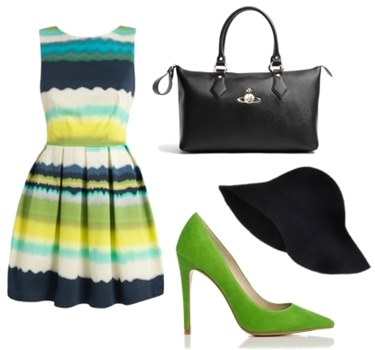 Aicd Green Point Toe Court Shoe Outfit