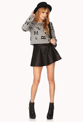 Bold Mixed Media Sweater