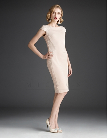1cefcf27e3 Cream Beaded Cocktail Dress Featured on Oprah Magazine November 2013 ...