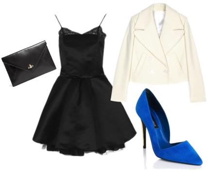 Indigo Blue high heel outfit