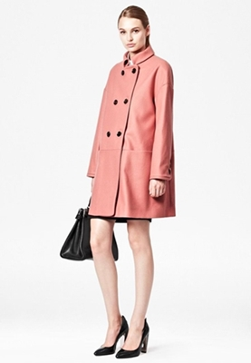 Oversized blush coat