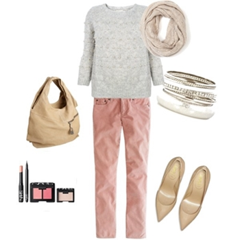 blush colored jeans