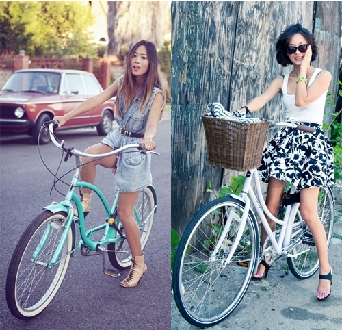 fashionistas in bike