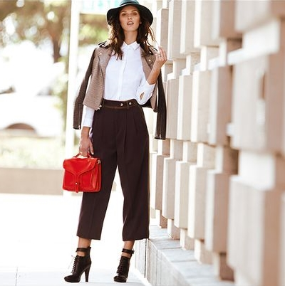 how to wear the wide leg pants1