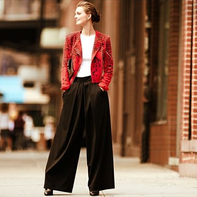 how to wear the wide leg pants2