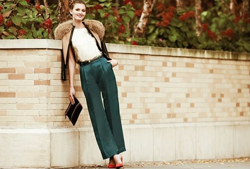 how to wear the wide leg pants4