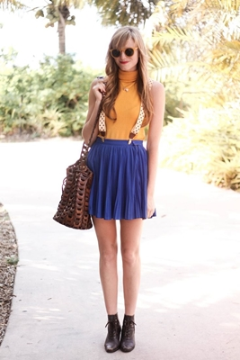 skirt with suspender