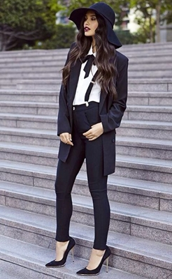 suit pants with suspender