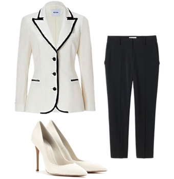 white tuxedo with black trim outfit1