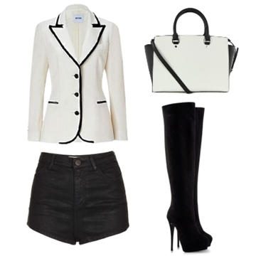 white tuxedo with black trim outfit2