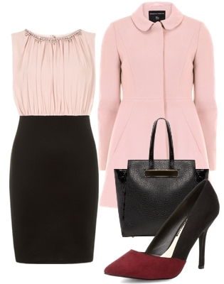 2 in 1 pencil dress blush