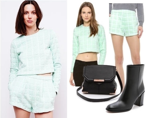 T by Alexander Wang Neon Top and Shorts