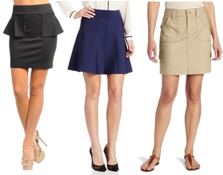 Just above the Knee Skirts