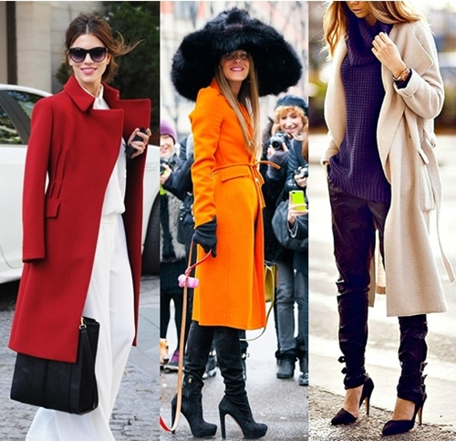 Long coat with wide leg pants wide leg pants are