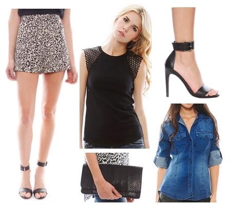 leopard high waist shorts