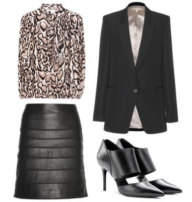 leopard silk blouse