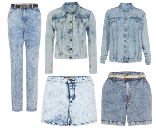 spring 2014 trend acid wash denim