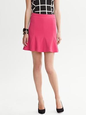 Banana Republic Fluted Skirt - Pop pink