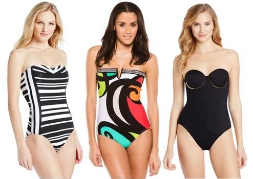 Bandeau One Piece Swimwear Trend