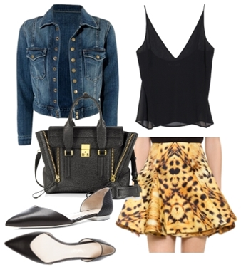 Current Elliott Snap Jacket with leopard skirt2