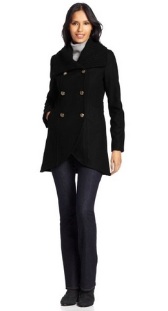 Kenneth Cole Women's Double-Breasted Tulip Coat
