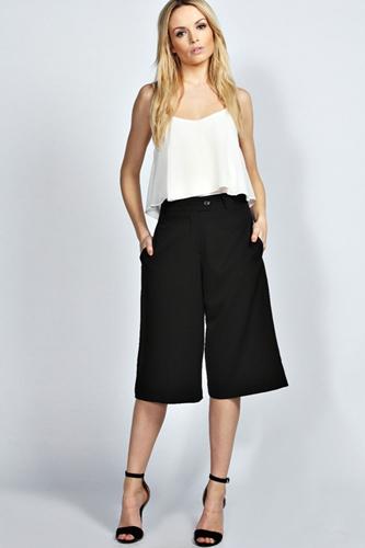 Kiya Midi Length Culotte Shorts