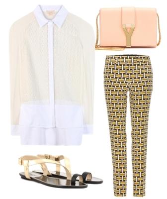 Silk blend shirt outfit