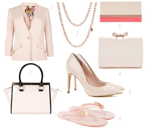 Ted Baker Spring 2014 Nude Pink Trend