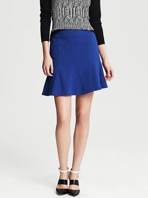 fluted skirt marina blue