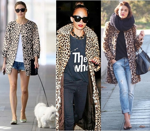 how to wear leopard print coat casually