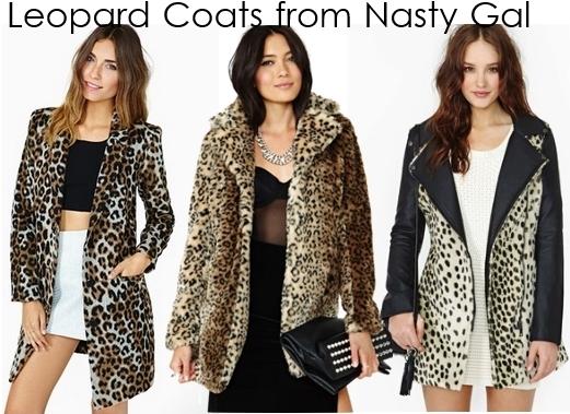 leopard print coats Nasty Gal