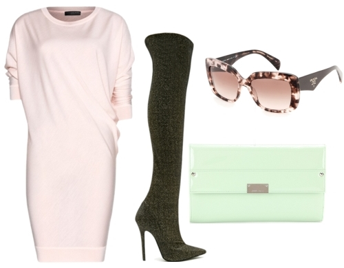 sweater dress with knee high boots2