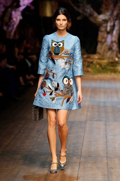 Dolce and Gabbana fall 2014 Owl2