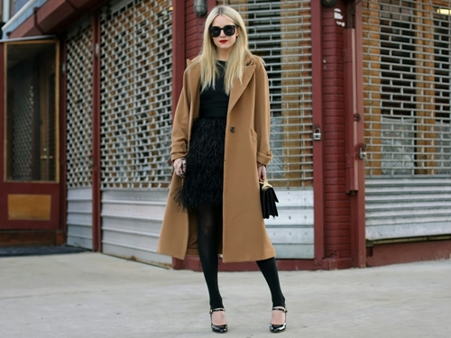 how to wear camel coat