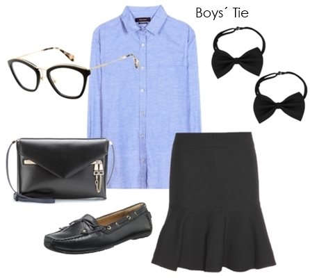 necktie outfit