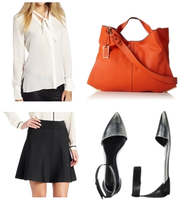 Enzo Angiolini DOrsay Flat Work Outfit