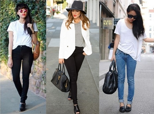 Three Ways to Style Jeans and a Tee