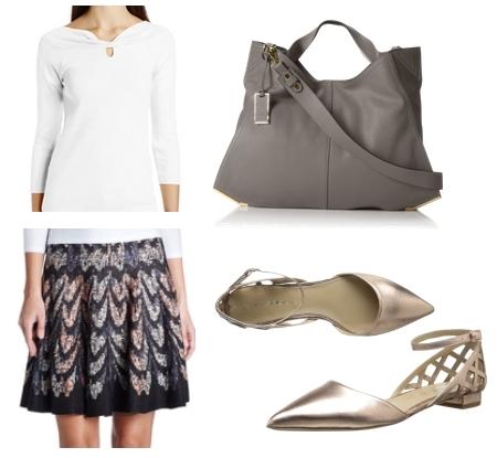 Via Spiga dOrsay Flat Work Outfit
