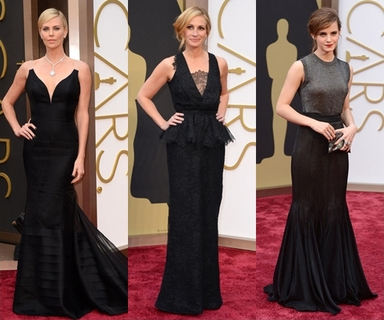 Black Dresses Oscar Red Carpet 2017