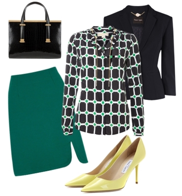 wake your work outfit - bright skirt