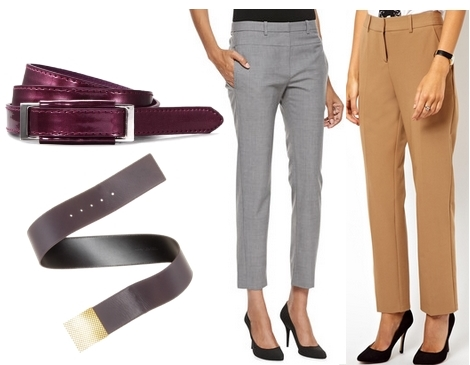 wake your work outfit - plum belt